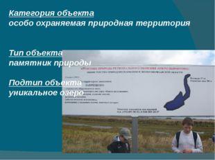 Категория объекта особо охраняемая природная территория  Тип объекта памятни
