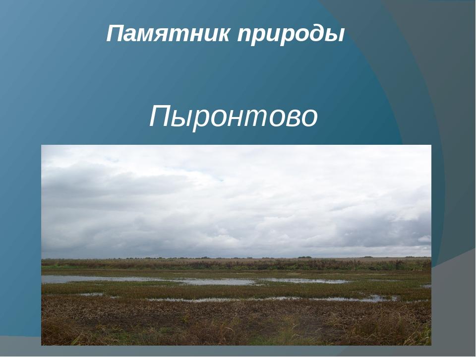 Пыронтово Памятник природы