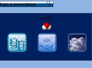 Вода в атмосфере H2O