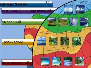 Климат Земли Климатические пояса Земли Арктический и антарктический Умеренны