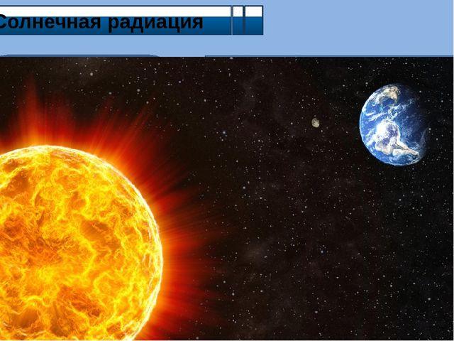 Солнечная радиация Прямая (не рассеянная и не поглощённая атмосферой) Поглощ...