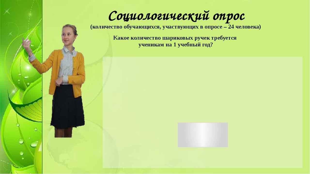 Социологический опрос (количество обучающихся, участвующих в опросе – 24 чело...