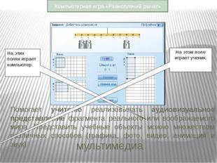 Помогает учителю реализовывать аудиовизуальное представление фрагмента реальн