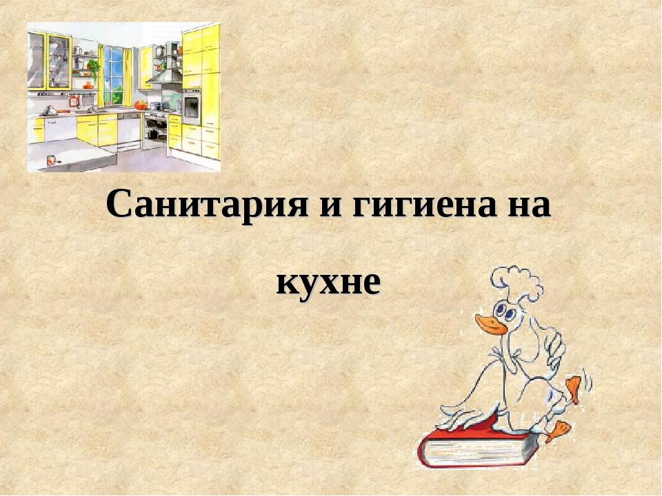 Санитария и гигиена на кухне