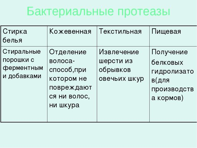 Бактериальные протеазы Стирка бельяКожевеннаяТекстильнаяПищевая Стиральные...