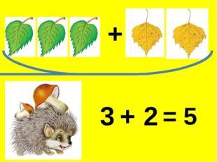 3 2 + = 5 +