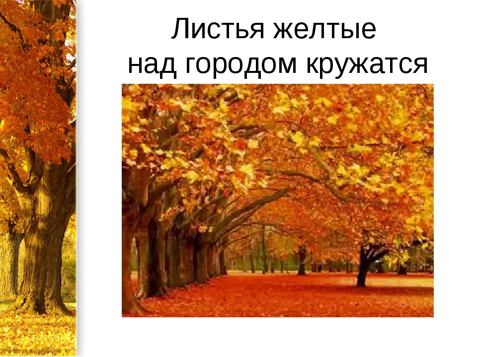Листья желтые над городом кружатся