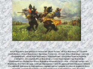 Илья Муромец фигурирует в киевском цикле былин: «Илья Муромец и Соловей-разбо
