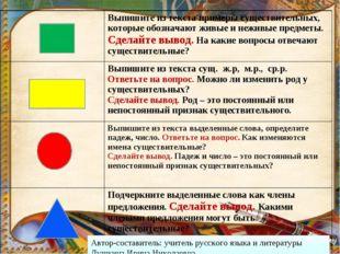 Автор-составитель: учитель русского языка и литературы Лушкина Ирина Николаев