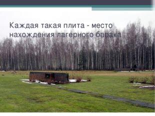 Каждая такая плита - место нахождения лагерного барака