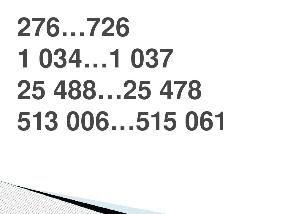276…726 1 034…1 037 25 488…25 478 513 006…515 061