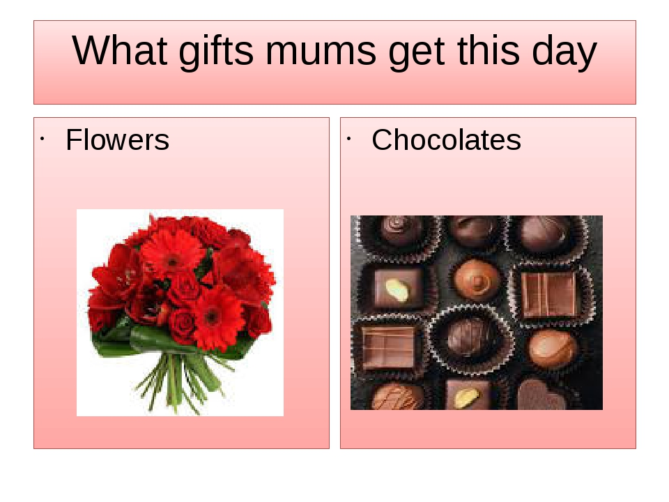 What gifts mums get this day Flowers Chocolates