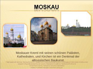 Moskauer Kreml mit seinen schönen Palästen, Kathedralen, und Kirchen ist ein