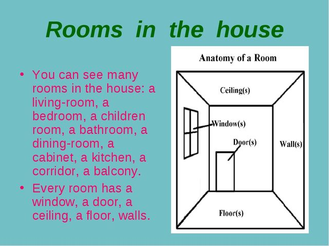 Rooms in the house You can see many rooms in the house: a living-room, a bedr...