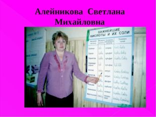 Алейникова Светлана Михайловна