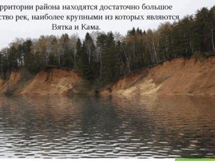 На территории района находятся достаточно большое количество рек, наиболее кр