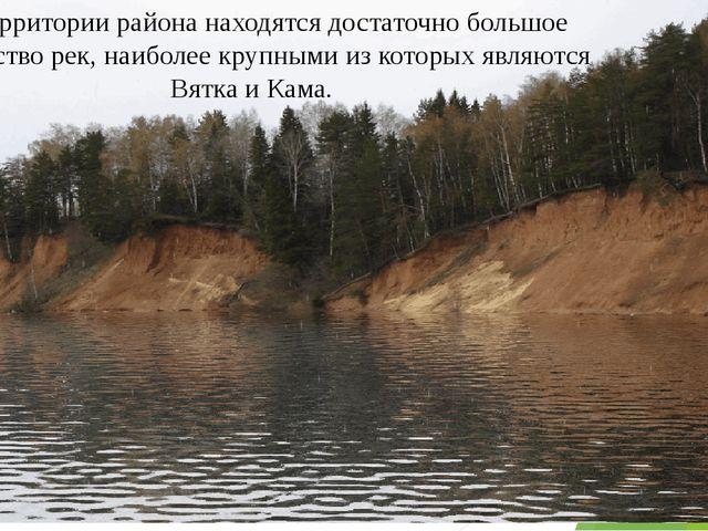 На территории района находятся достаточно большое количество рек, наиболее кр...