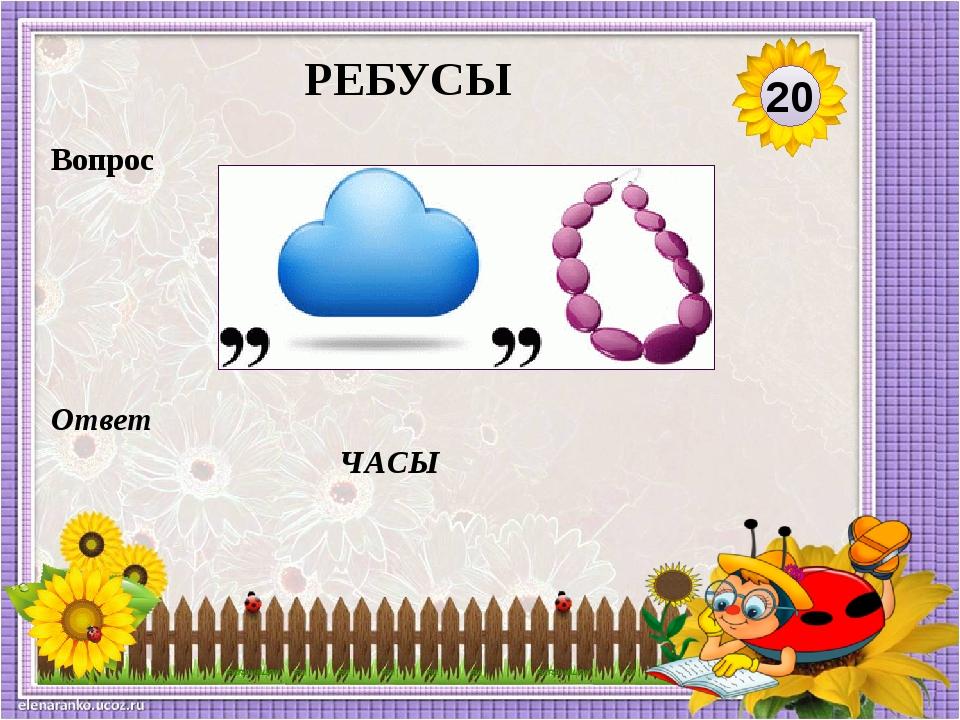 картинки ребус часы сибирский ботанический