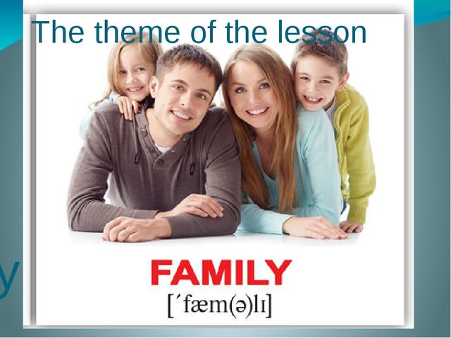 The theme of the lesson My