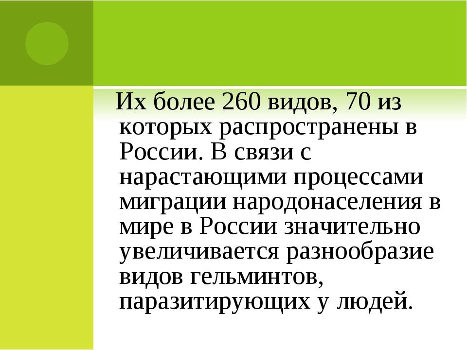 Их более 260 видов, 70 из которых распространены в России. В связи с нараста...