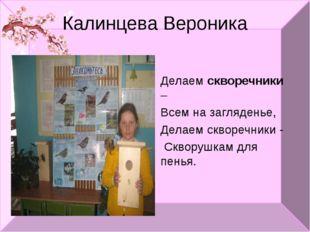 Калинцева Вероника Делаем скворечники – Всем на загляденье, Делаем скворечник