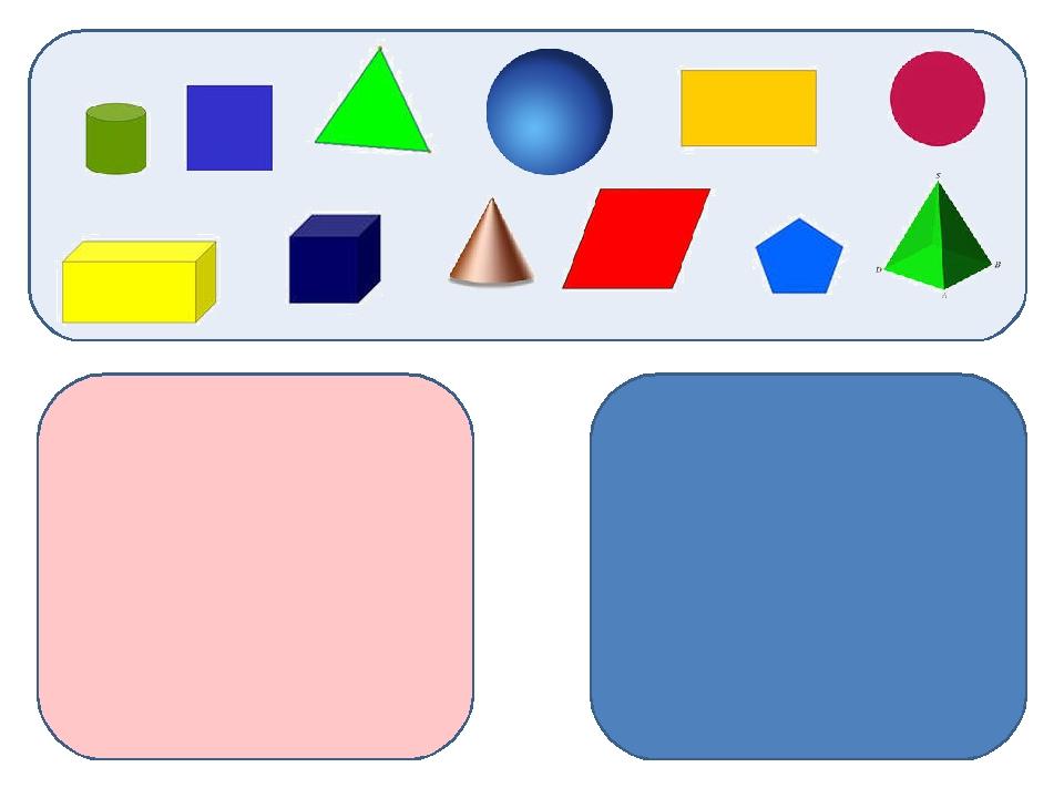 знакомство с геометрическими фигурами и телами