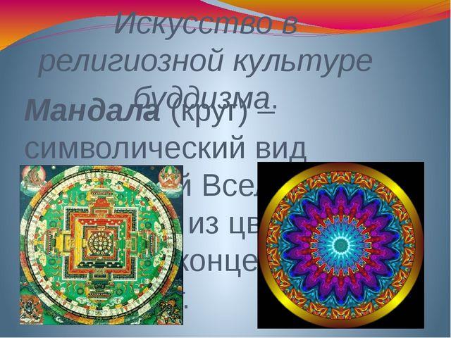 Искусство в религиозной культуре буддизма. Мандала (круг) – символический вид...