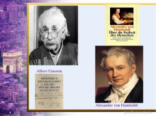 Albert Einstein Alexander von Humboldt