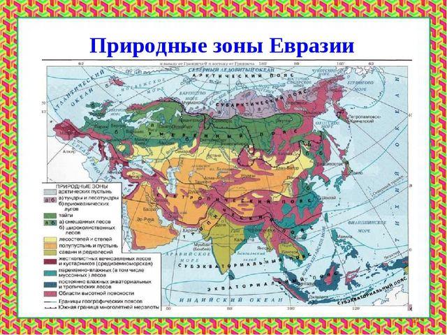 Природные зоны Евразии *