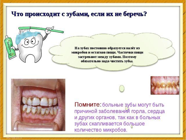 Что происходит с зубами, если их не беречь? Помните: больные зубы могут быть...