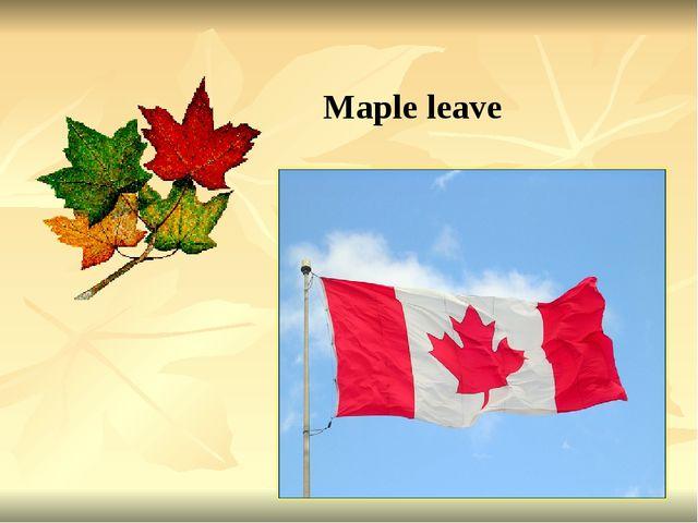 Maple leave