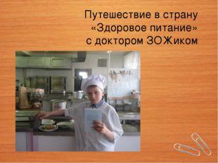 Путешествие в страну «Здоровое питание» с доктором ЗОЖиком