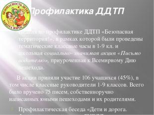 Профилактика ДДТП Неделя по профилактике ДДТП «Безопасная территория!», в рам