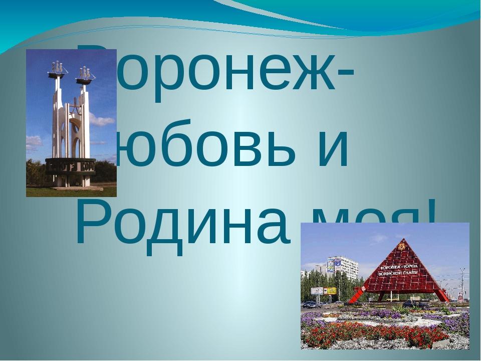 Воронеж-любовь и Родина моя!