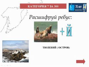 КАТЕГОРИЯ 9 ЗА 400 Самый высокий водопад в Сахалинской области, находящийся н