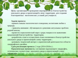 Задачи проекта: -привить навыки экологического поведения, воспитания любви к