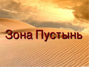 Зона Пустынь