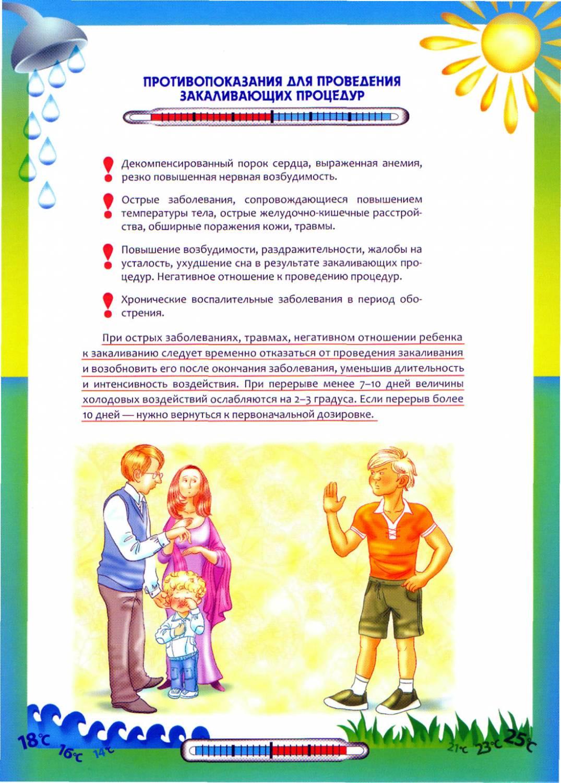 Методы закаливания детей дошкольного возраста в домашних условиях