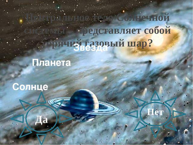 Центральное тело Солнечной системы – представляет собой горячий газовый шар?...