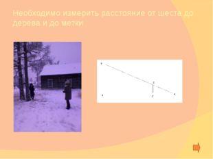 Ход эксперимента Найти точку Отметить место человека и измерить необходимые и