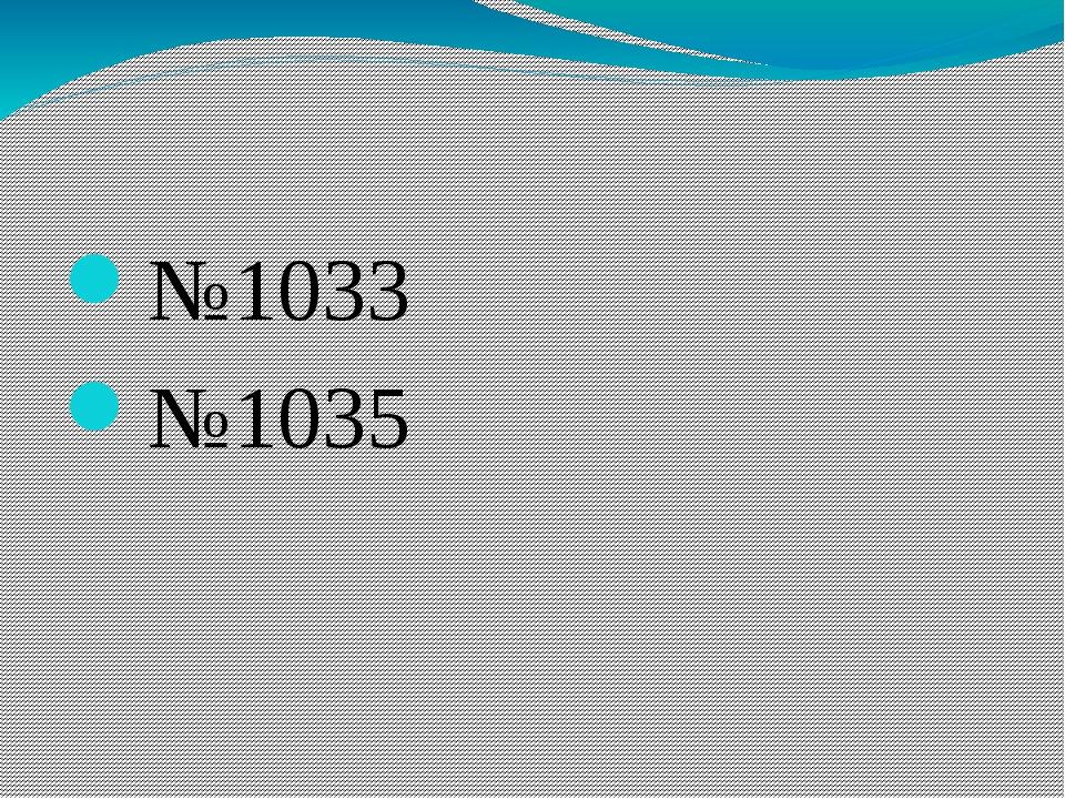 №1033 №1035