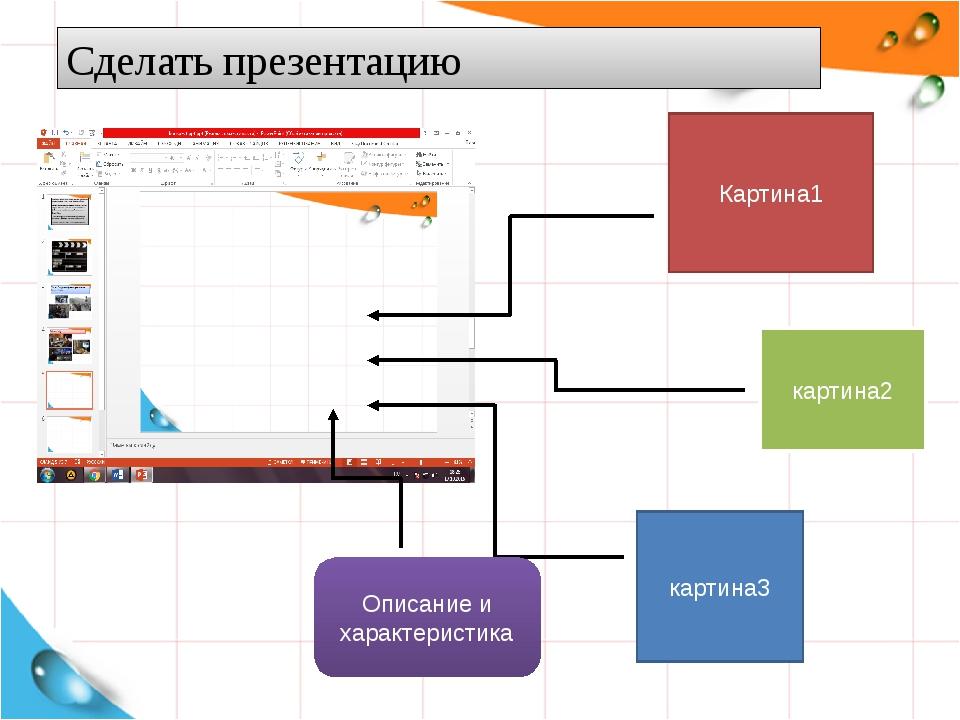 Как сделать презентацию картины