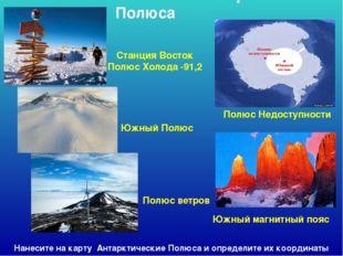 Антарктические Полюса Станция Восток Полюс Холода -91,2 Южный Полюс Полюс ве
