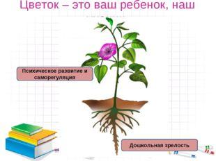 Цветок – это ваш ребенок, наш ученик. Дошкольная зрелость Психическое развити