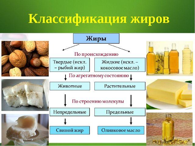 * Классификация жиров