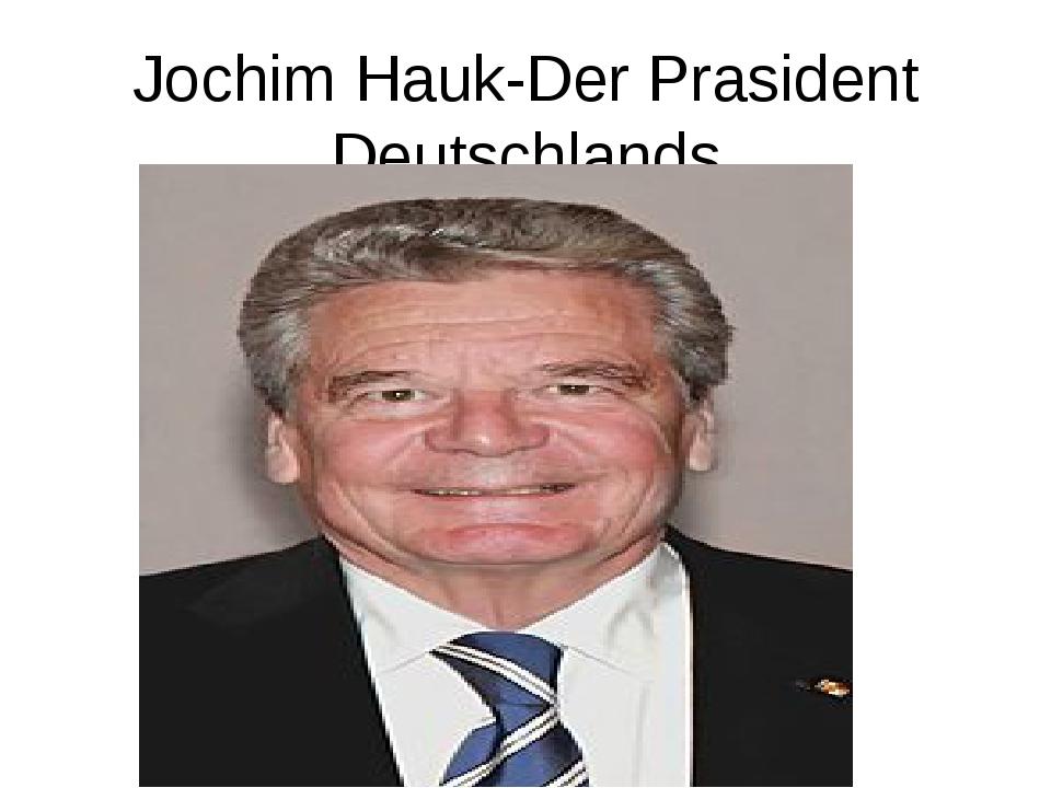 Jochim Hauk-Der Prasident Deutschlands