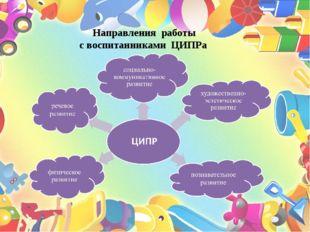 Направления работы с воспитанниками ЦИПРа
