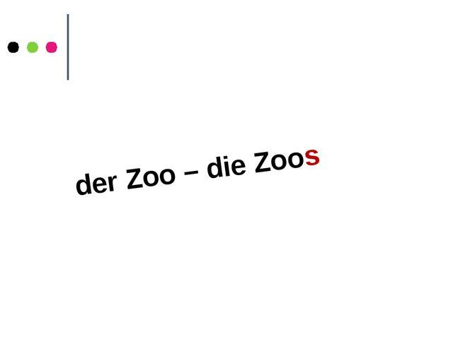 der Zoo – die Zoos