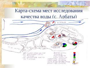 Карта-схема мест исследования качества воды (с. Арбаты)