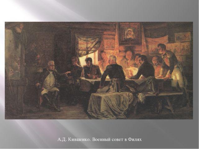 А.Д. Кившенко. Военный совет в Филях